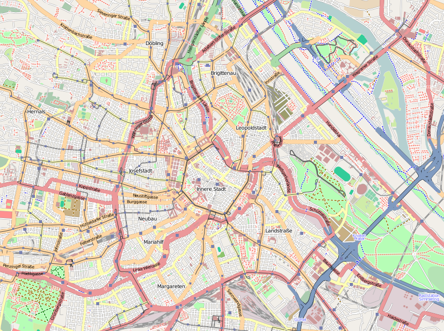 overview map of Vienna